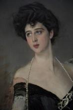 Giovanni Boldini, Ritratto di donna Franca Florio [dettaglio]