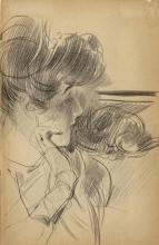 Boldini, Ritratto di donna di profilo a mezzo busto.jpg