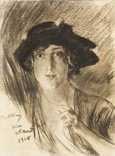 Boldini, Ritratto di giovane donna con cappello.png