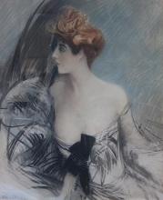 Boldini, Ritratto di una bella donna dai capelli rossi in abito da sera.jpg
