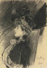 Boldini, Signora seduta di profilo con cappello e veletta.jpg