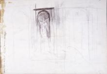 Boldini, Statua in una nicchia [verso].jpg