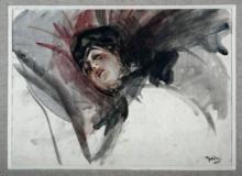 Boldini, Studio di giovane donna sul cuscino.jpg