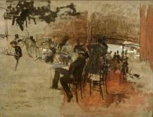 Boldini, Studio per Il caffè rosso | Étude pour Le café rouge | Study for The red café