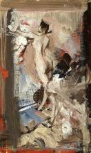Boldini, Studio per 'Nudo femminile con pelle di tigre'.png