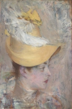 Boldini, Testa di signora con cappellino giallo.jpg