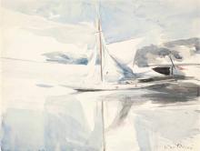 Giovanni Boldini, Una barca a vela all'ormeggio [verso]