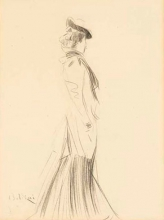 Boldini, Una donna con cappello, di profilo a destra.jpg