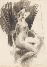Boldini, Una donna nuda seduta su una poltrona di profilo a destra.jpg