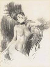 Boldini, Una donna nuda seduta, un nastro annodato intorno al collo.jpg