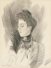 Boldini, Una donna, a mezzo busto, girata verso sinistra.jpg