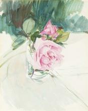 Boldini, Una rosa su un ripiano   Une rose sur une étagère   A rose on a shelf