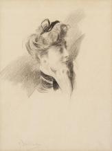Boldini, Una testa di donna di profilo a destra [b].jpg