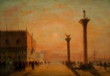 Richard Parkes Bonington, La Piazzetta, Venezia | The Piazetta, Venice