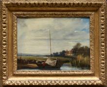 Richard Parkes Bonington, Un fiume in Normandia | A river in Normandy