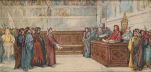 Odoardo Borrani, A Dante viene imposto l'esilio