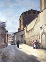 Odoardo Borrani, Antica porta a San Frediano