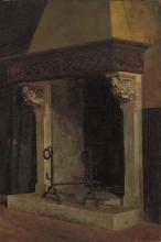 Odoardo Borrani, Antico camino di palazzo toscano