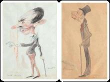 Odoardo Borrani, Caricature