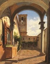 Odoardo Borrani, Chiostro di San Gaggio