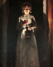 Odoardo Borrani, Donna con candela