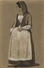 Odoardo Borrani, Donna in costume tradizionale