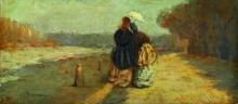 Odoardo Borrani, Due signore con ombrellino