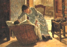 Odoardo Borrani, Giovane donna che culla il bambino