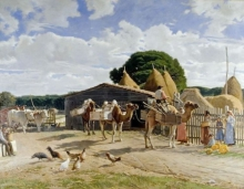 Odoardo Borrani, I cammelli nella tenuta reale di San Rossore