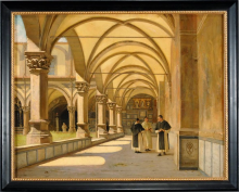 Borrani, Il chiostro di Santa Maria Novella.png
