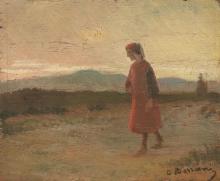 Odoardo Borrani, La passeggiata di Dante