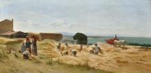Odoardo Borrani, La raccolta del grano a Castiglioncello