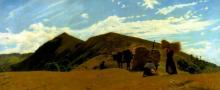 Borrani, La raccolta del grano sull'Appennino.png