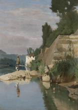 Odoardo Borrani, Pescatore sull'Arno alla Casaccia