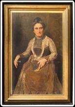 Odoardo Borrani, Ritratto della moglie Giovanna Santucci Borrani