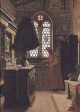 Odoardo Borrani, Sacrestia del convento di San Marco a Firenze con figura