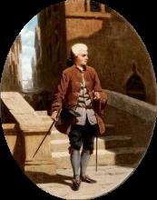Odoardo Borrani, Un cortigiano a Venezia