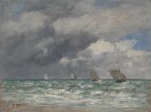 Boudin, Barche a vela presso Trouville.png
