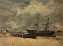 Boudin, Barche da pesca sulla spiaggia.jpg