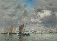 Eugène Louis Boudin, Camaret, barche da pesca | Camaret, bateaux de pêche