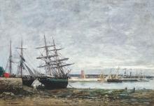 Boudin, Camaret, marea bassa nella rada | Camaret, marée basse dans la rade | Camaret, low tide in the harbor