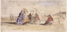 Boudin, Figure sulla spiaggia [1865 circa].jpg