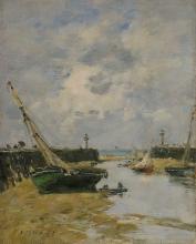 Boudin, I moli di Trouville con la bassa marea | Les jetées de Trouville à marée basse | Trouville jetties at low tide