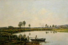 Eugène Louis Boudin, Il fiume morto a Deauville | La rivière morte à Deauville