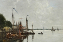 Eugène Louis Boudin, Il molo ad Anversa | Le quai à Anvers | The quay at Antwerp
