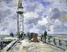 Boudin, Il molo e il faro a Honfleur | La jetée et le phare à Honfleur | The jetty and lighthouse at Honfleur