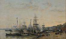 Eugène Louis Boudin, Il porto di Bordeaux, visto dal Quai des Chartrons | Le port de Bordeaux, vu du quai des Chartrons | The port of Bordeaux, seen from the Quai des Chartrons