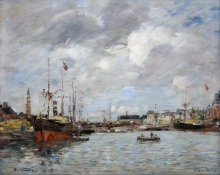 Boudin, Il porto di Trouville | Le port de Trouville | The harbour of Trouville