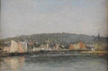 Eugène Louis Boudin, Il porto di Trouville la mattina | Le port de Trouville le matin | The harbour of Trouville in the morning