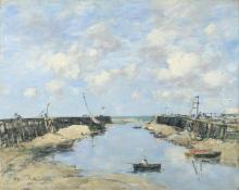 Boudin, L'entrata del porto di Trouville.png